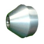 Embout pointu en aluminium pour tube 120 mm.